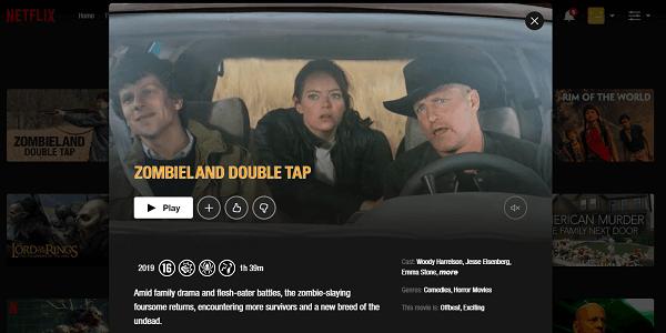 Watch Zombieland - Double Tap (2019) on Netflix 3