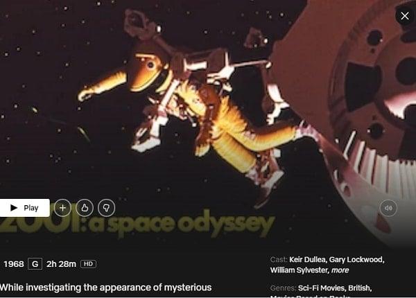 Watch 2001: A Space Odyssey (1968) on Netflix