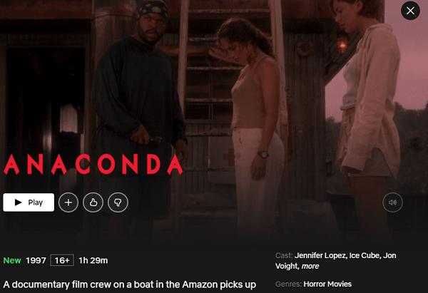 Watch Anaconda (1997) on Netflix