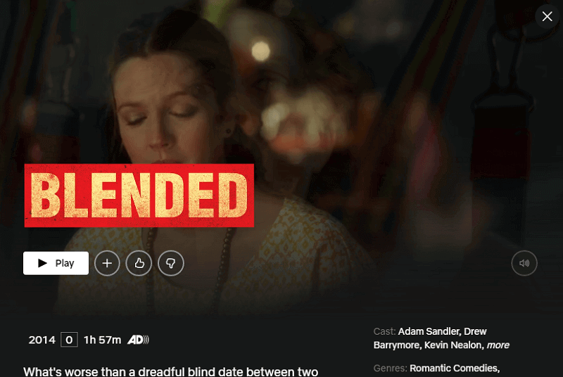 Watch Blended (2014) on Netflix