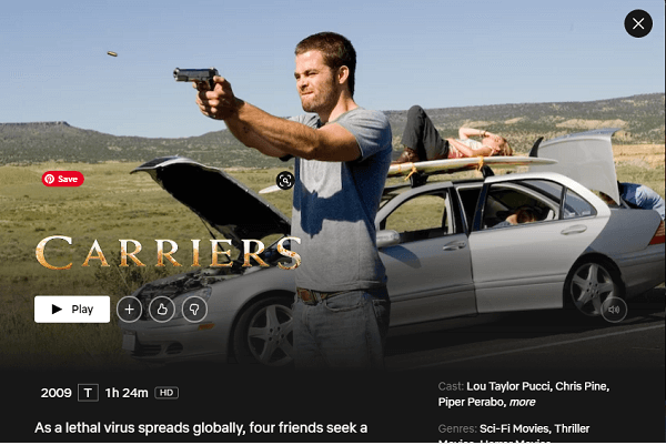 Watch Carriers (2009) on Netflix