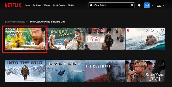 Watch Cast Away (2000) on Netflix
