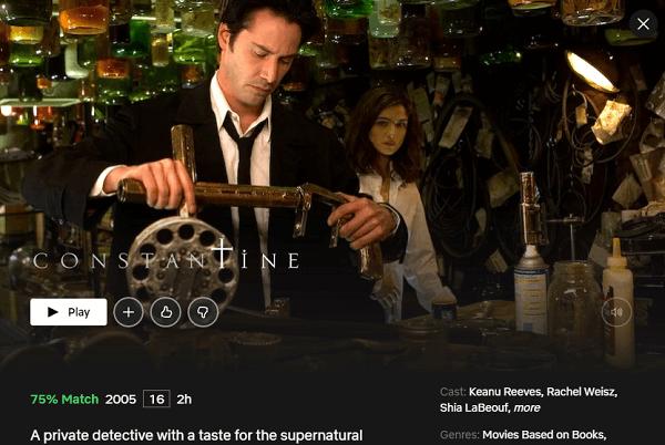Watch Constantine (2005) on Netflix