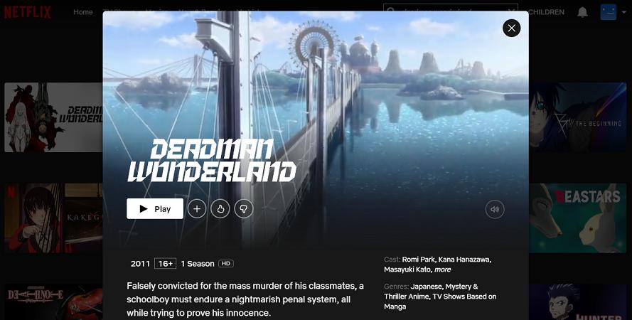 Deadman Wonderland on Netflix 2