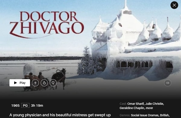 Watch Doctor Zhivago (1965) on Netflix