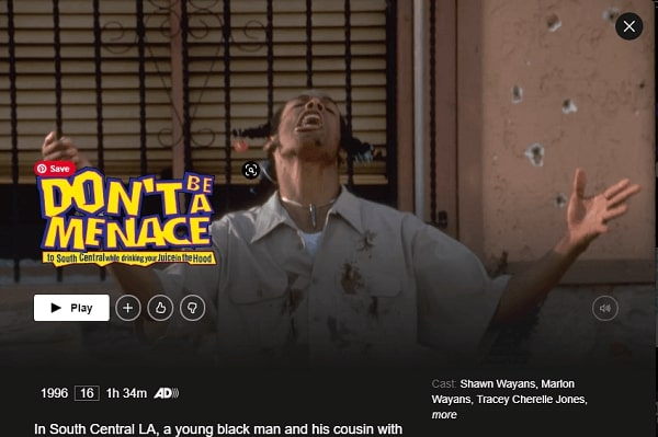 Watch Don't Be a Menace (1996) on Netflix