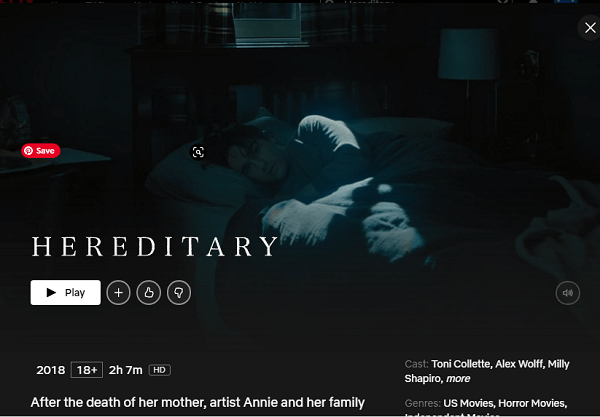 Watch Hereditary (2018) on Netflix