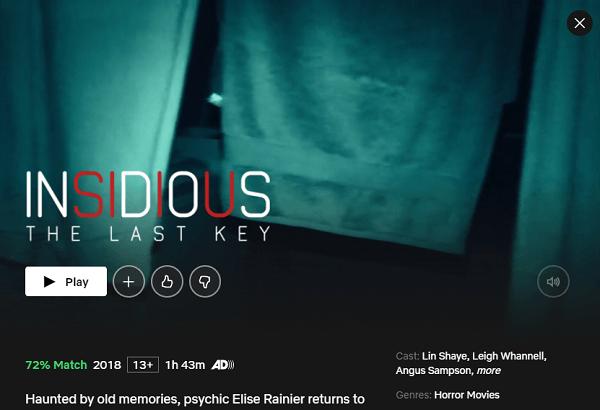 Watch Insidious: The Last Key (2018) on Netflix