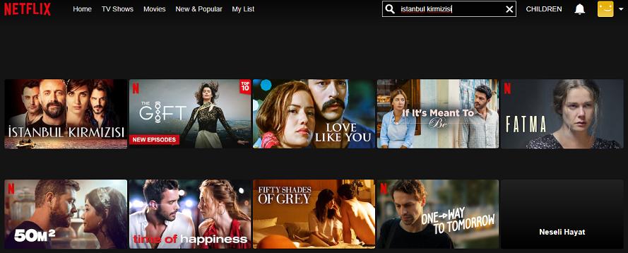 Istanbul Kirmizisi on Netflix 1