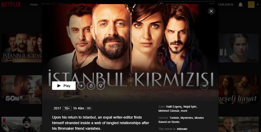 Istanbul Kirmizisi on Netflix 2