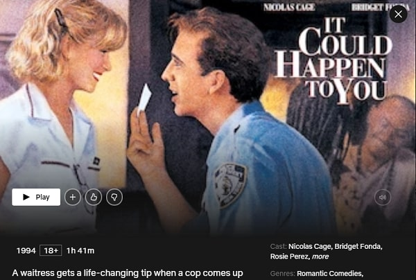 Watch It Could Happen to You (1994) on Netflix