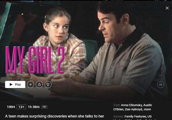 Watch My Girl 2 (1994) on Netflix