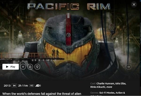 Watch Pacific Rim (2013) on Netflix