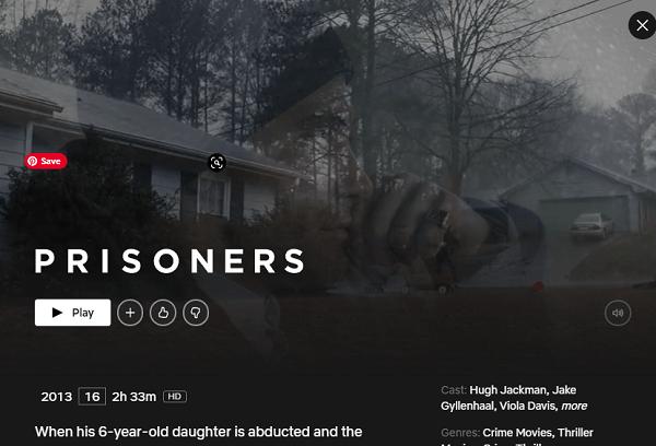 Watch Prisoners (2011) on Netflix From
