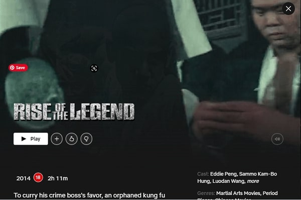 Watch Rise of the Legend (2014) on Netflix