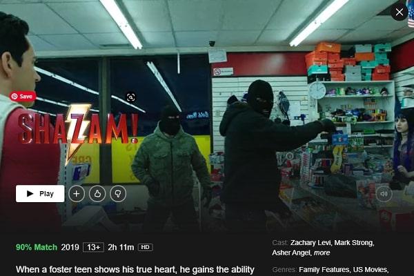 Watch Shazam! (2019) on Netflix