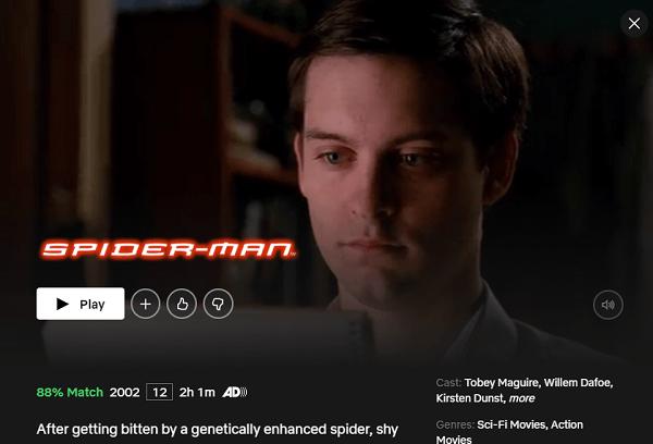 Watch Spider-Man (2002) on Netflix