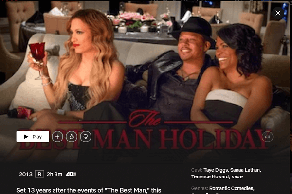Watch The Best Man Holiday (2013) on Netflix