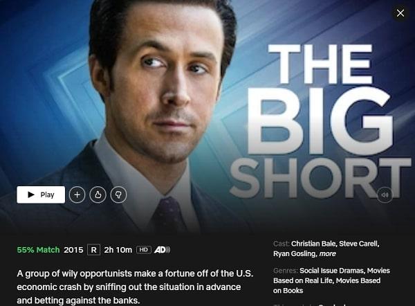 Watch The Big Short (2015) on Netflix