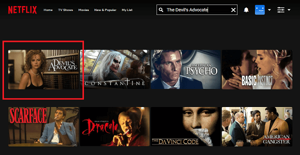 Watch The Devil's Advocate (1997) on Netflix