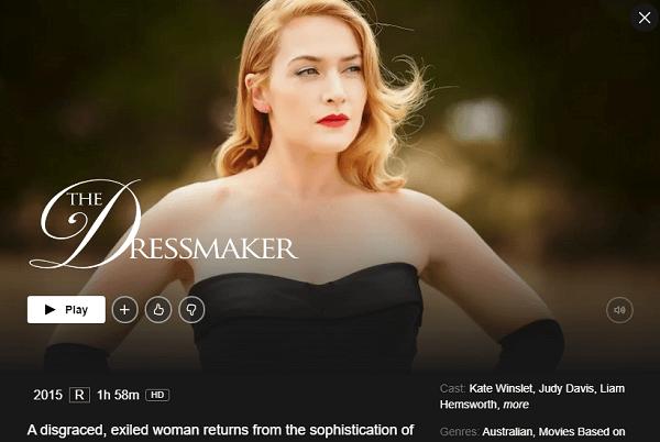 Watch The Dressmaker (2015) on Netflix