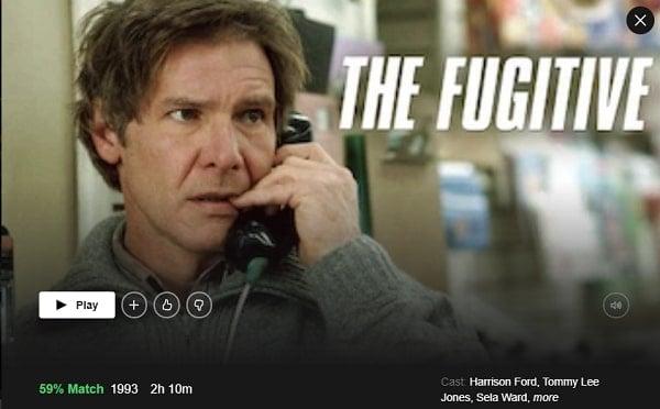 Watch The Fugitive (1993) on Netflix