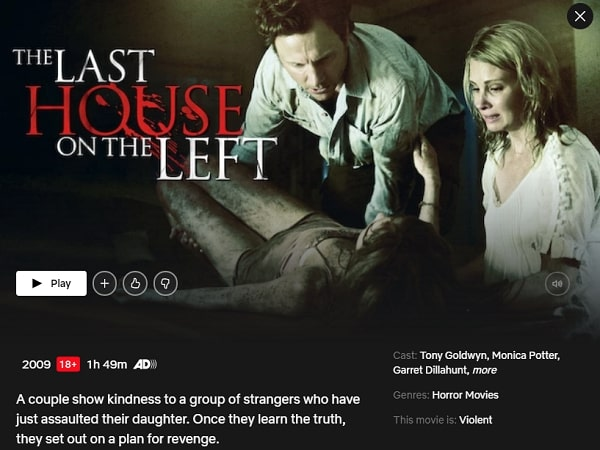 Watch The Last House on the Left (2009) on Netflix