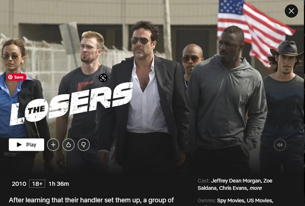 Watch The Losers (2010) on Netflix