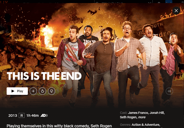 Watch This Is the End (2013) on Netflix