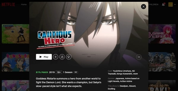 Watch Cautious Hero - The Hero Is Overpowered but Overly Cautious on Netflix 3