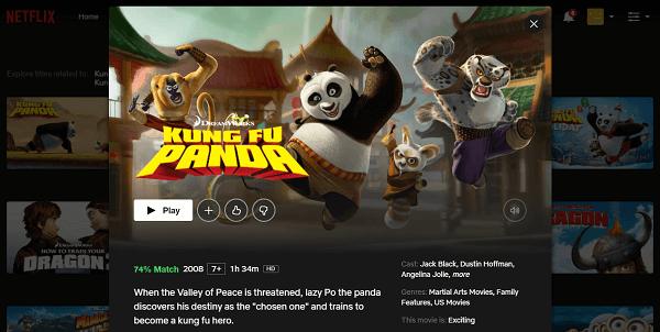 Regarder Kung Fu Panda (2008) sur Netflix 3