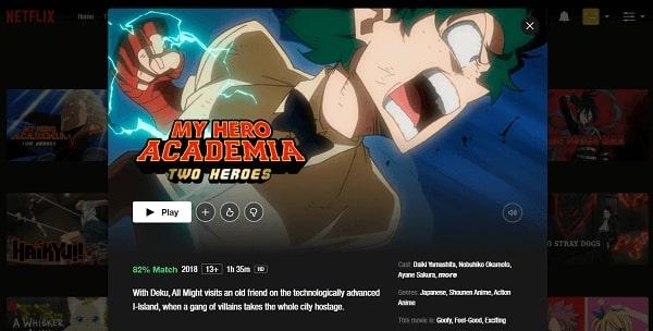 Watch My Hero Academia -Two Heroes (2018) on Netflix 3