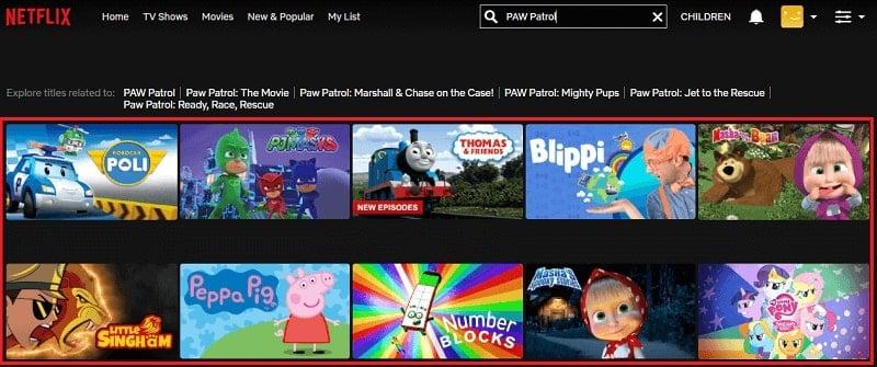 Watch PAW Patrol on Netflix 1
