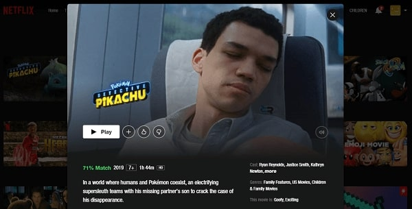 Watch Pokémon Detective Pikachu (2019) on Netflix 3