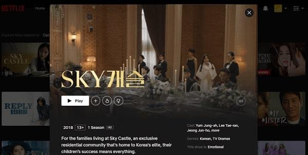 Watch Sky Castle on Netflix 3