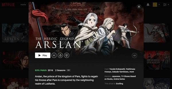 Watch The Heroic Legend of Arslan on Netflix 3