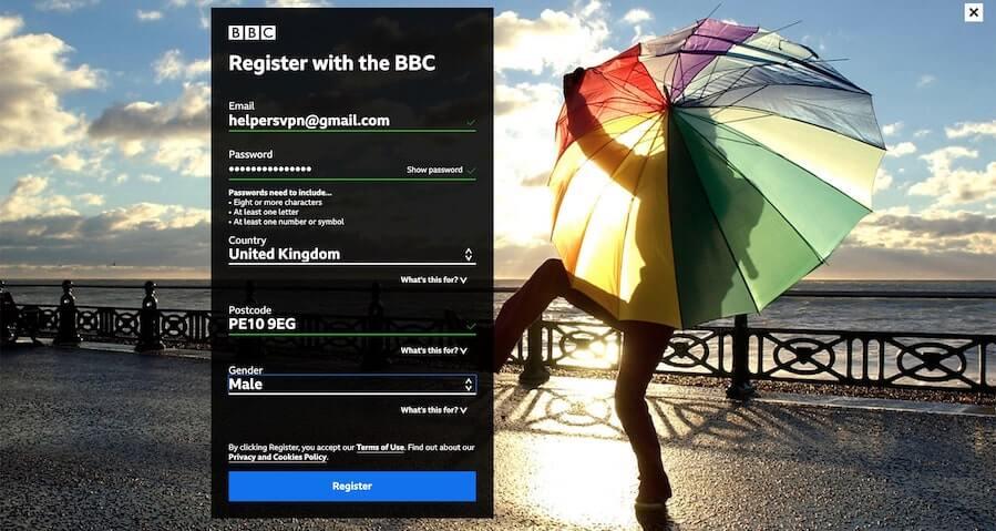 bbc iplayer registration all details