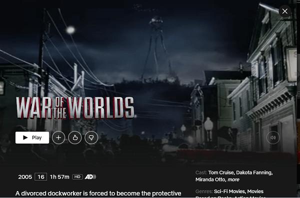 Watch War of the Worlds (2005) on Netflix