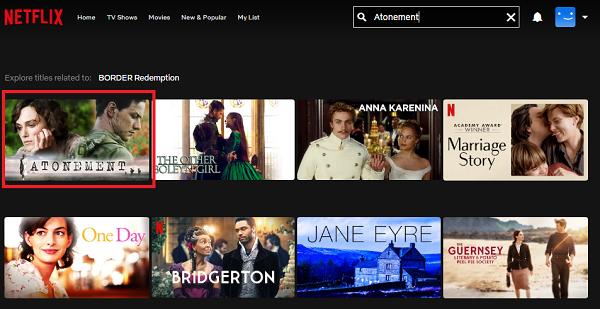 Watch Atonement (2007) on Netflix