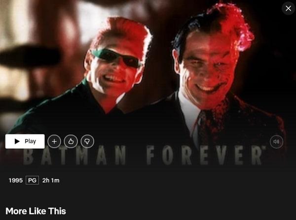 Batman Forever (1995): Watch it on Netflix