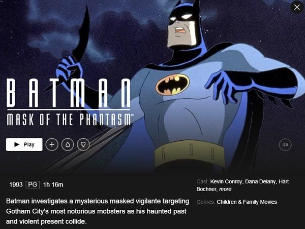 Batman: Mask of the Phantasm (1993): Watch it on Netflix