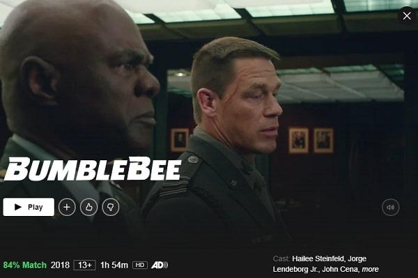 Watch Bumblebee (2018) on Netflix