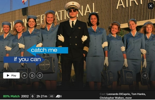 Watch Catch Me If You Can (2002) on Netflix