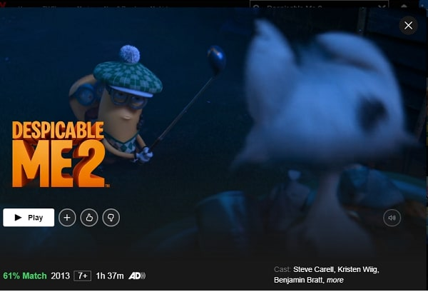 Despicable Me 2 (2013): Watch it on Netflix