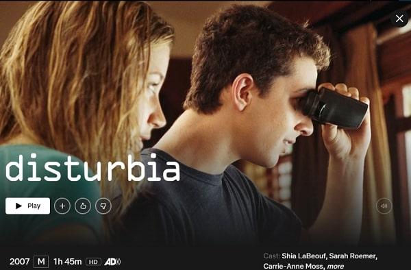 Watch Disturbia (2007) on Netflix
