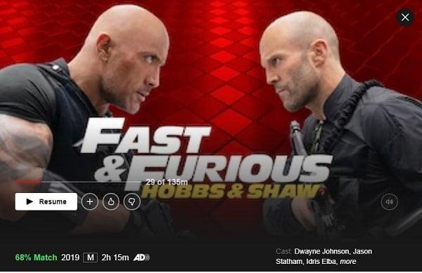 Watch Fast & Furious Presents: Hobbs & Shaw (2019) on Netflix