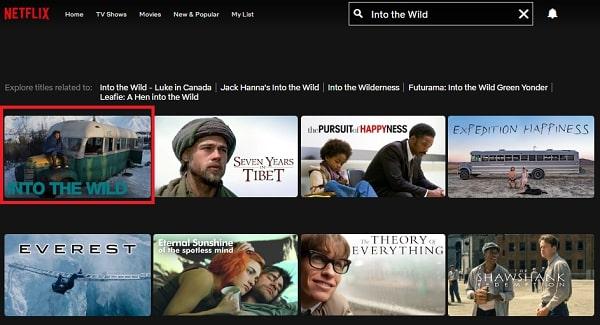 Watch Into the Wild (2007) on Netflix