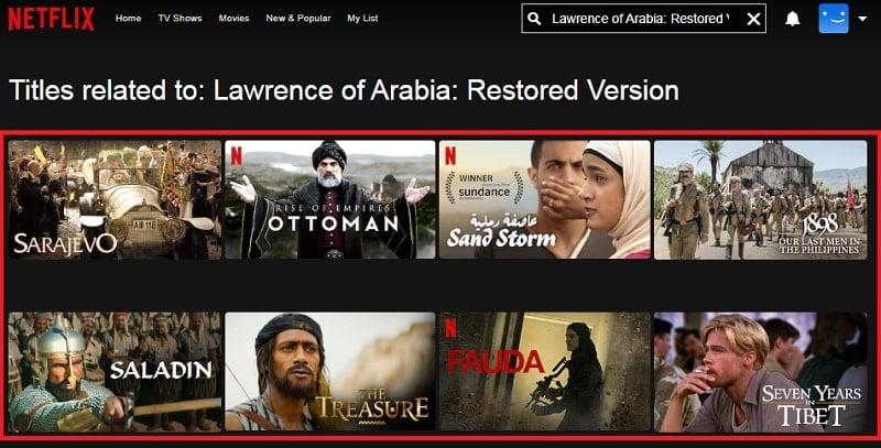 Lawrence of Arabia: Restored Version (1962): Watch it on Netflix