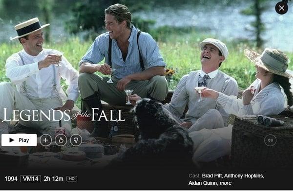 Watch Legends of the Fall (1994) on Netflix