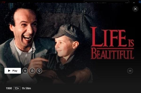 Life Is Beautiful (1997): Watch it on Netflix